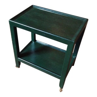 Karl Springer Green Snakeskin Table For Sale