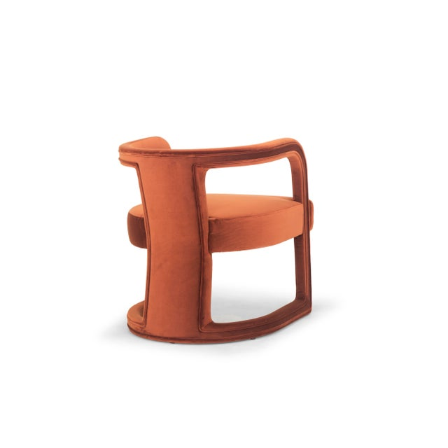 Contemporary Rory Side Chair in Rust For Sale - Image 3 of 6