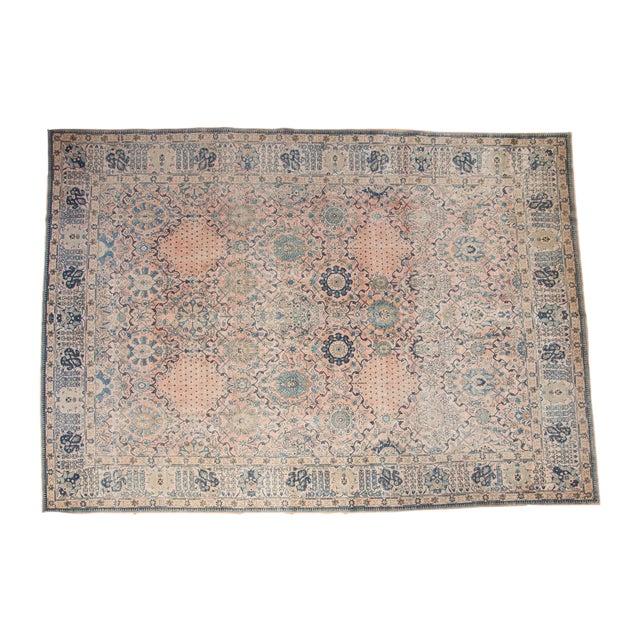 """Vintage Kashan Carpet - 10'1"""" X 14'2"""" For Sale - Image 11 of 11"""