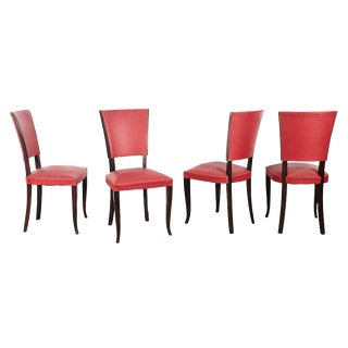 Art Deco Style Chairs - Set of 4 For Sale