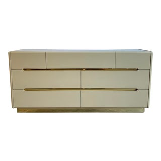 Lane Brass and Lacquer Dresser For Sale
