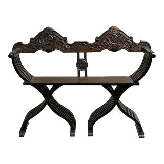 Early 20th Century Carved Italian Renaissance Style Settee For Sale
