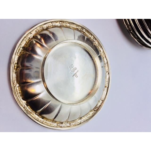 Metal Late 19th Century Gorham Sterling Butter Pats Coasters- Set of 12 For Sale - Image 7 of 11