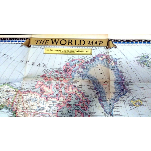 Original vintage world map taken from the December 1951 issue of National Geographic Magazine. The first World Map...