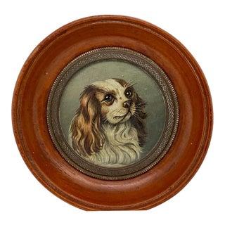 English Miniature Cavalier King Charles Spaniel Portrait For Sale