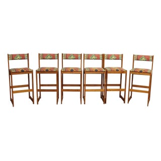 Findahls Mid-Century Modern Tall Chairs - Set of 6 For Sale