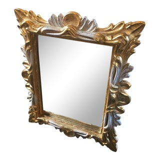 Vintage Hollywood Regency Wall Mirror For Sale