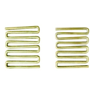1950s Mid-Century Modern Edward Wormley Brass Cabinet Handles - a Pair For Sale