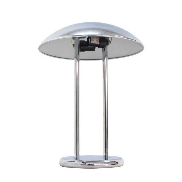 Pair of Chrome Dome Shape Shades Table Lamps For Sale In New York - Image 6 of 7