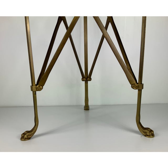Fabulous from a good home solid bronze marble top Maison Jansen style guerdon side table.