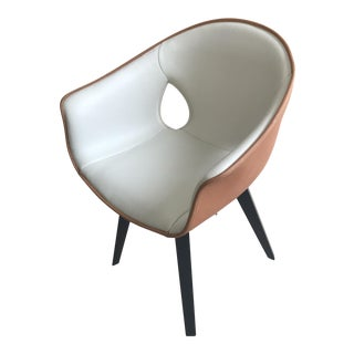 Modern Poltrona Frau Ginger Chair With Swivel Base For Sale