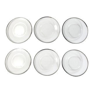 Silver Rimmed Hors d'Oeuvres Plates - Set of 6