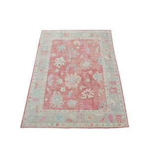 "Afghan Oushak Design Rug - 5'7""x7'5"" For Sale"