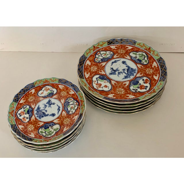 Vintage Imari Takahashi Dishes - Set of 10 For Sale In Wichita - Image 6 of 10