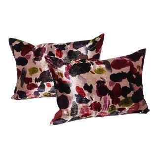 Fallen Petals Velvet Pillows - a Pair