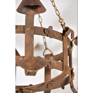 Antique French Round Iron Chandelier, Circa 1920 Preview