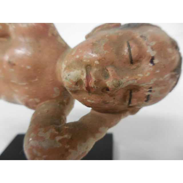 Spanish Colonial Sleeping Nino Sculpture For Sale - Image 4 of 6