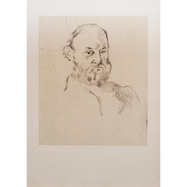 Tan 1959 Paul Cézanne Self-Portrait, Large Hungarian Photogravure For Sale - Image 8 of 8