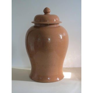 Ugo Zaccagnini Pale Terracotta Ceramic Pottery Hand Thrown Lidded Ginger Jar Vase Preview