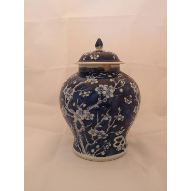 Two beautifully matching blue porcelain vases. Both have the same stamp on the underside. The pieces are elegantly...