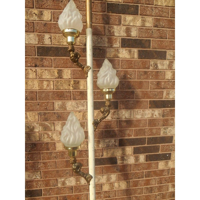 Vintage Hollywood Regency Tension Pole Lamps - 2 For Sale - Image 5 of 6