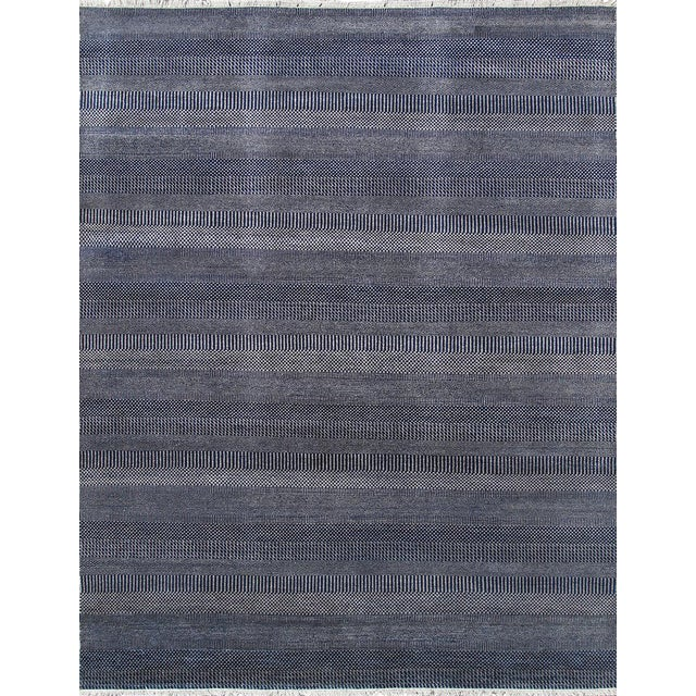 """Pasargad Transitiona Blue Area Rug - 9' 1"""" X 12' 2"""" For Sale"""