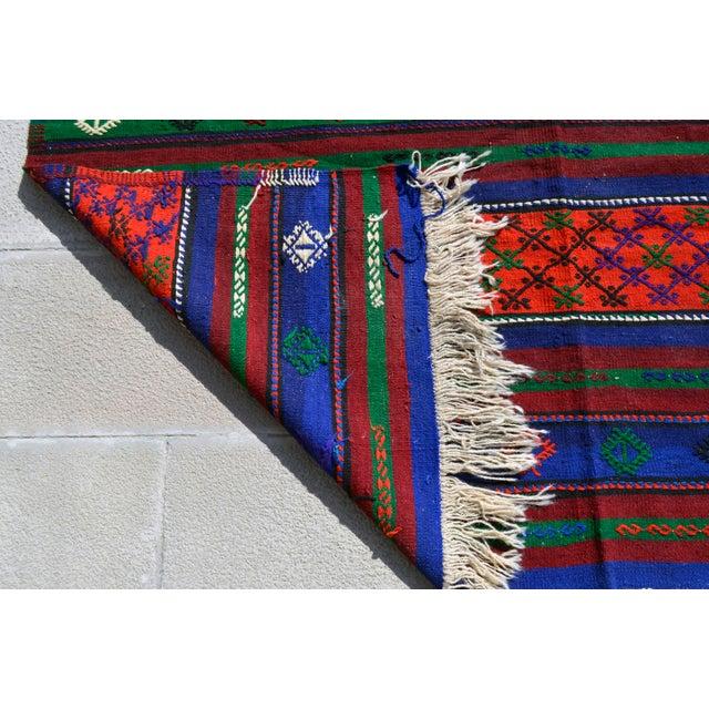 Turkish Hand-Woven Kilim Rug - 5′10″ X 10′11″ For Sale - Image 9 of 10