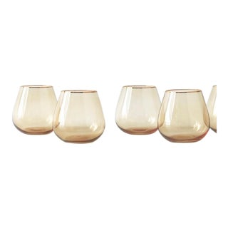 Siren Beverageware Oro + Gold Short Stemless - Set of 4 For Sale