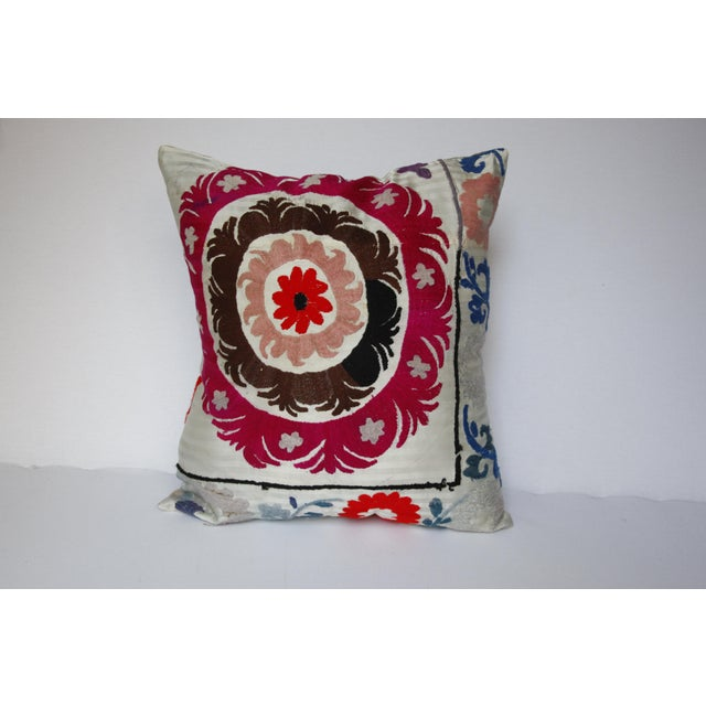 1970s Boho Chic Decorative Needlework Throw Sofa Pillow Cover For Sale - Image 11 of 12