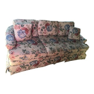 Drexel Traditional Floral Upholstered Sofa For Sale