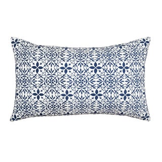 Contemporary Tr Essentials Block Print Cotton Pillow - 12x20 For Sale