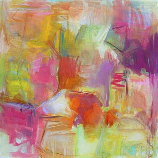 "Large Abstract Painting by Trixie Pitts ""Desert Trail"""