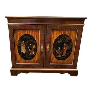 Drexel Heritage Et Cetera Chinoiserie Cabinet For Sale