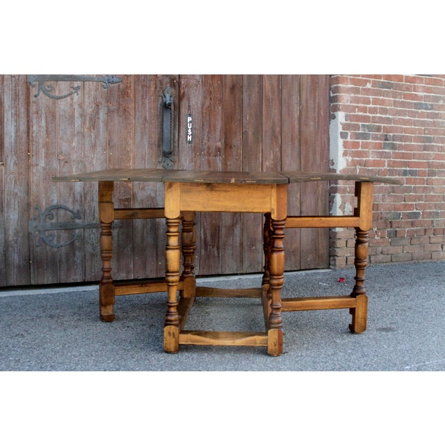 Spanish Colonial Folding Gateleg Table For Sale - Image 10 of 12