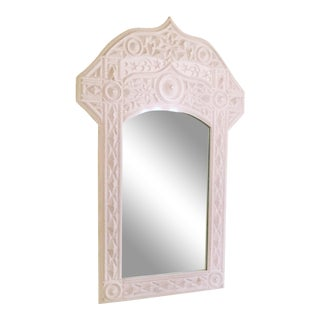 1970 Vintage BoHo Chic Style Mirror For Sale
