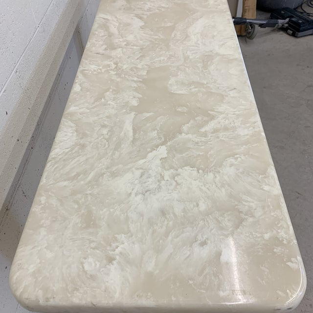 Cultured Marble Console Table For Sale - Image 4 of 11