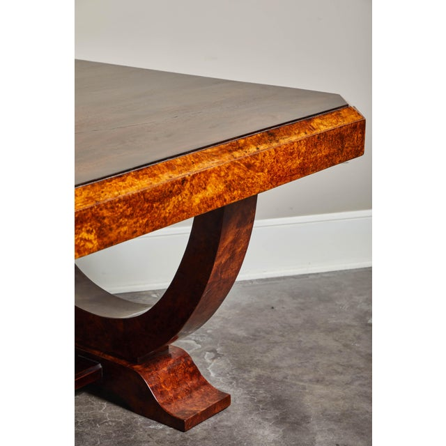 Early 20th C. French Colonial Art Deco Dining Table For Sale In Los Angeles - Image 6 of 11