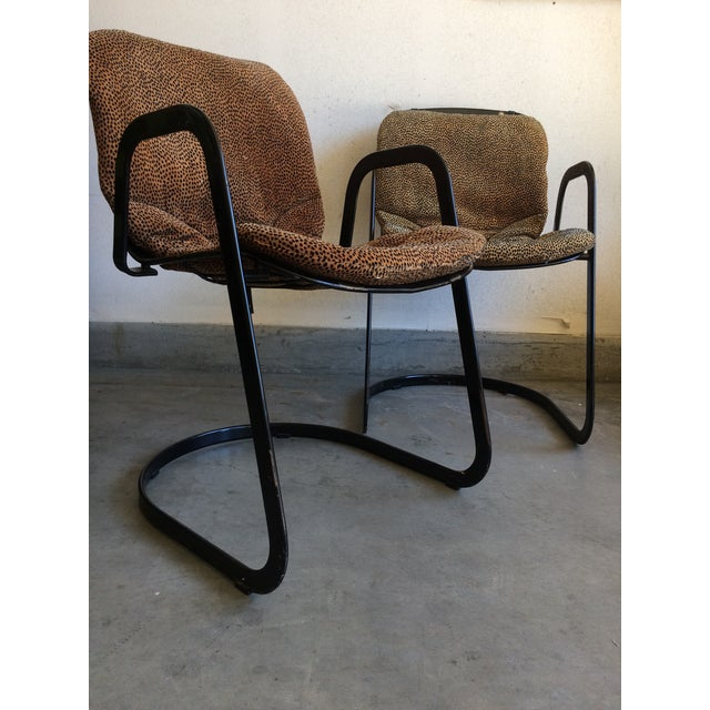 Willy Rizzo Cidue Italian Retro Mod Chairs - A Pair For Sale - Image 5 of 7