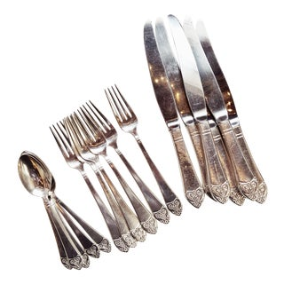 1930s Silver Plated Flatware From the Waldorf Astoria - Set of 18 For Sale