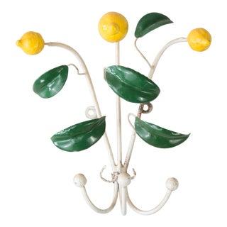 Vintage Italian Tole Lemon Hooks Hangers For Sale