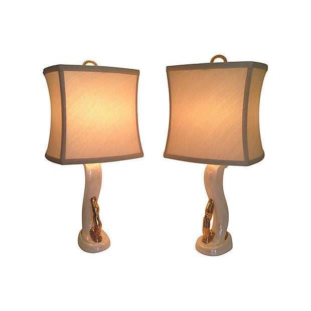 Mid-Century Modern 1950s Aladdin Boudoir Lamps - a Pair For Sale - Image 3 of 7