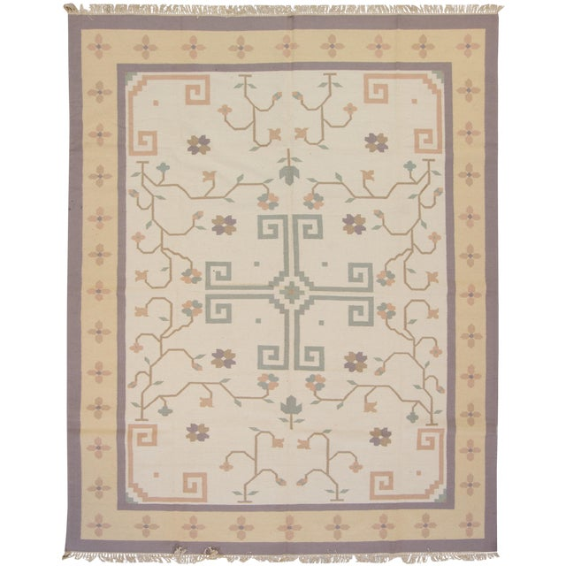 Apadana Vintage Indian Dhurrie Rug - 9' X 12' - Image 1 of 4