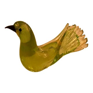 Mid-Century Murano Hand Made Art Glass Bird For Sale