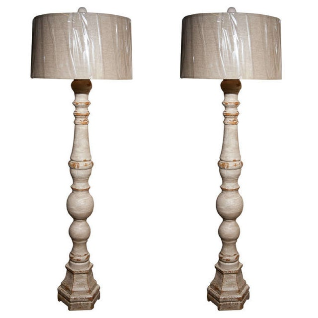 Swedish Tall Standing Lamps - A Pair For Sale In New York - Image 6 of 6