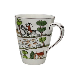 Crown Staffordshire English Hunting Scene Mug For Sale