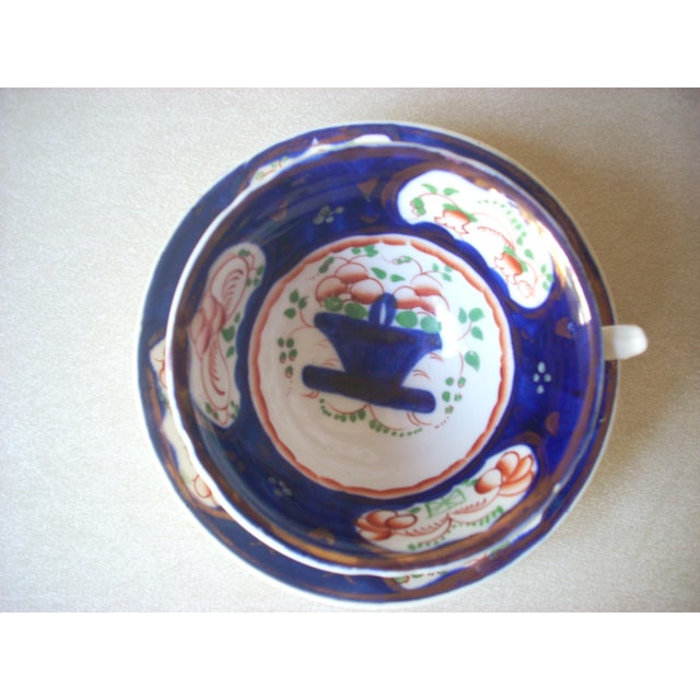 Fine English soft paste porcelain made between 1835 and 1;850; traditional classic colors and motifs; enjoy your tea or...
