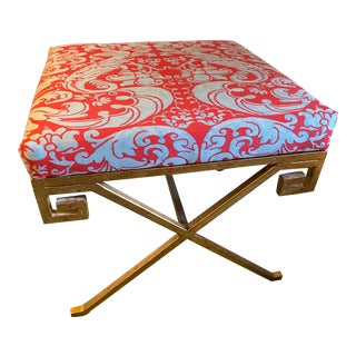 Fortuny Caravaggio Covered Stool For Sale