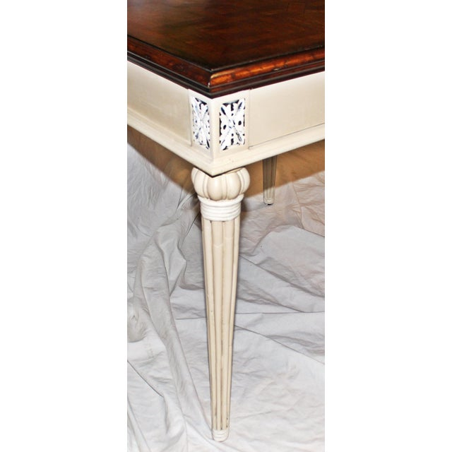 1980s Parquetry-Top Painted Side-Table For Sale - Image 5 of 8