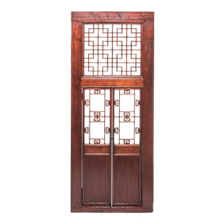 19th Century Chinese Lattice Doorway For Sale
