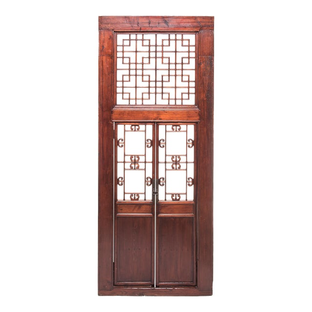 19th Century Chinese Lattice Doorway For Sale